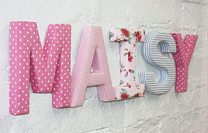 Fabric Letters - top 100 gifts for children
