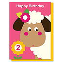 Sheila The Sheep Age Two Card