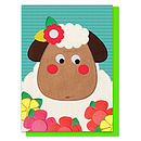 Sheila The Sheep Printed Appliqué Card