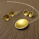 Cup Of Gold Pendant And Earrings Set