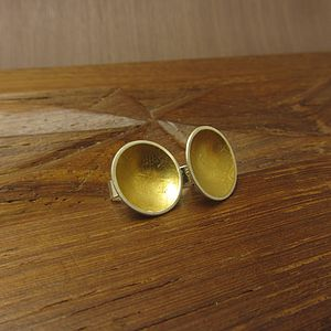 Cup of Gold stud earrings