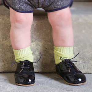 Childrens Black Shoes - boys occasion wear
