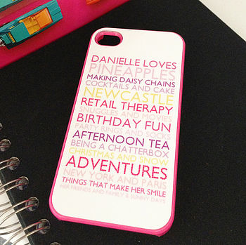 Personalised Case For I Phone4 In Pink