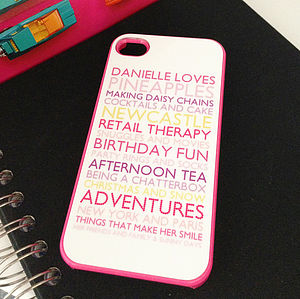 Personalised Case For I Phone4 In Pink - women's accessories