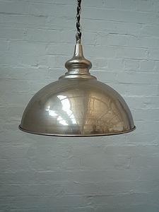 Chrome Pendant Ceiling Shade - lighting