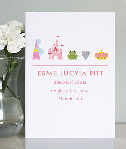 25 Personalised Baby Girl Birth Announcements