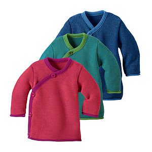 Organic Merino Wool Baby Jumper - clothing