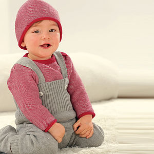 Organic Merino Wool Baby Dungarees - trousers & leggings
