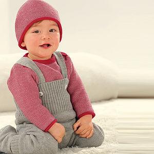 Organic Merino Wool Baby Dungarees
