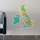 Map Of The UK Wall Stickers