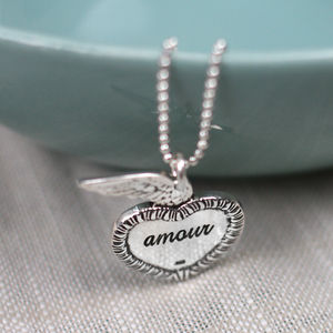Silver Love Conquers All Necklace
