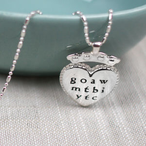 Silver Necklace With Love Poem Charm - women's jewellery sale