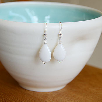 River Shell Teardrop Earrings