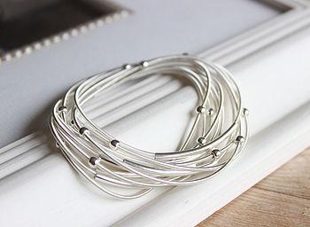 Silver Coil Bracelets