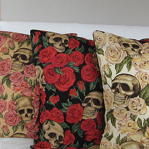 A Bed Of Roses Cushion Cover - spooky homeware