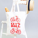 'Let's Roll' Tote Bag