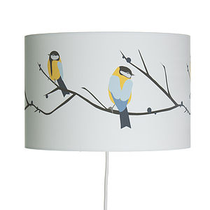 Juneberry And Bird Lampshade - lamp bases & shades