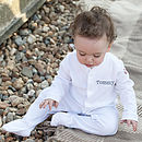 Personalised Boy's Precious Sleepsuit Romper