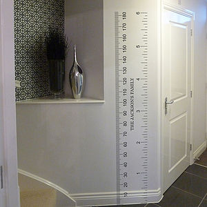 Personalised Ruler Growth Chart Wall Sticker