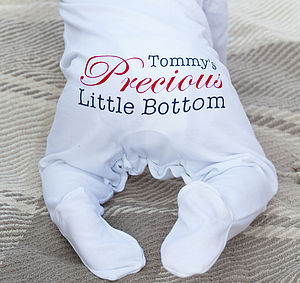 Personalised Boy's Precious Sleepsuit Romper