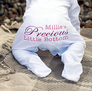 Personalised 'Precious' Baby Grow Romper - nightwear