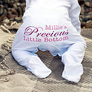 Personalised 'Precious' Baby Grow Romper