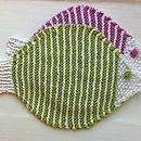 Hand Knitted Cotton Fish Face Cloth