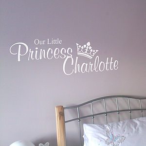 Our Little Princess Personalised Wall Sticker - wall stickers