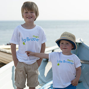 'Big Brother Little Brother' T Shirt Set - gifts: under £25