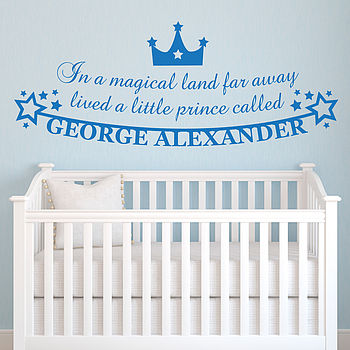 Personalised Little Prince Vinyl Wall Sticker
