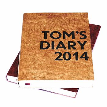Personalised Poster Print Leather 2015 Diary
