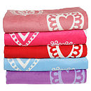 Raspberry, Pink, Red, Blue, Purple Hearts