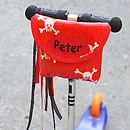Pirate Print Handlebar Bag