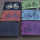 Leather Bicycle Pocket Notebook