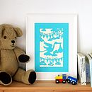 New Baby Personalised Unframed A4 Papercut