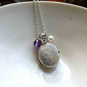 Vintage Silver Locket With Silver Letter - necklaces & pendants