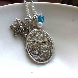 Vintage Silver Locket & Snowflake Locket