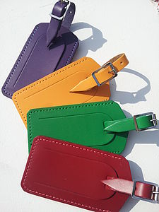 Luxury Colourful Leather Luggage Tag - passport & travel card holders