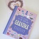 'The Story Of Me And My Grandma' Journal