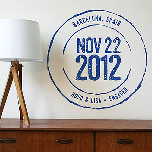 Personalised Important Date Wall Sticker - wall stickers by room