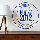 Personalised Important Date Wall Sticker