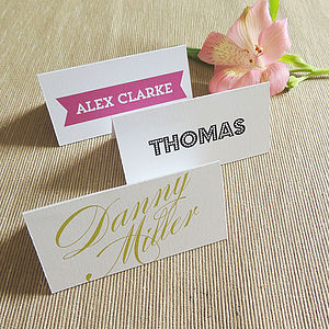 Personalised Place Card/Name Card - decoration