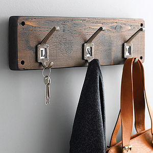 Reclaimed Wood Hook Board - hooks, pegs & clips