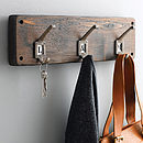 Reclaimed Wood Hook Board