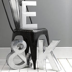 Industrial Metal Letter - gifts for him