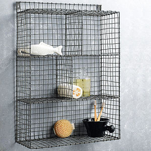 Wire Shelf Rack - living room