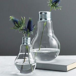 Lightbulb Vase - fresh & alternative flowers