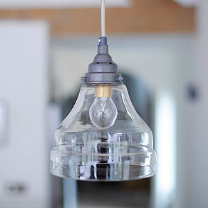 Zinc And Glass Pendant Light