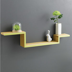 Solid Oak Shelf - laundry room