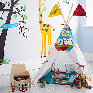 Personalised Circus Teepee Den Wigwam - our favourites